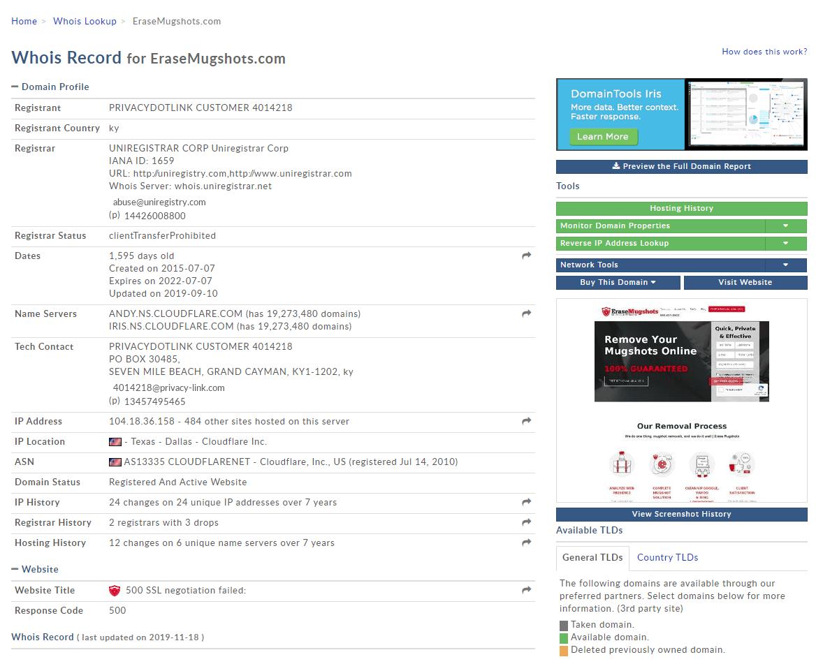 Review Erasemugshots.com